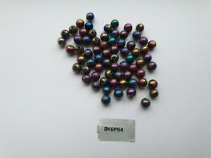 Jewellery Maker 100CTS RAINBOW COATED PYRITE PLAIN ROUNDS APPROX 6MM