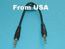3 PK 15cm 3.5mm 4-pole Male Audio Plug Car aux Cable for a pple i phone i pod US