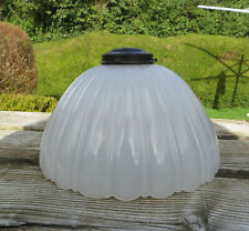 More details for large & heavy jefferson style moonstone glass pendant lamp shade - 12 1/2
