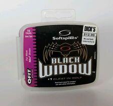 Soft Spikes Black Widow Golf Cleats (Q-Fit) One Set 18pk NEW