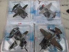 4er set rusa aviones de caza DIECAST 1:100 CCCP Soviet yak-9/il-2/mig-3