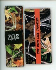 Medium ZOX Silver Strap THE PATH LESS TRAVELED Wristband with Card Reversible