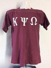 Vtg 70s 80s Kappa Psi Omega T-Shirt Burgundy S/M Greek Letters Jersey