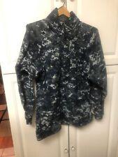 US Navy Gore-Tex Digital NWU DIGITAL BLUE Camo Parka Jacket Small Regular