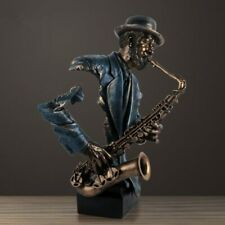 57cm Modern Creative Music Saxophone Bust Statue Abstract Figure Musician