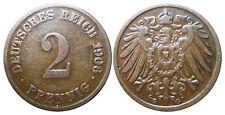 J 11   2 Pfennig Kaiserreich 1906 G in SS  502851