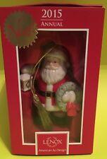 Mib Collectible Lenox Christmas Annual 2015 Lighting the Way Santa Ornament