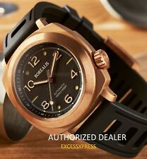 NEW BOREALIS NAVALE BRONZE BLACK DIAL Fixed Bezel DIVER 300M Watch WARRANTY