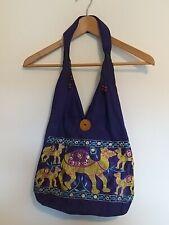 Purple Shoulder Bag With Embroidered Camels <LR1012
