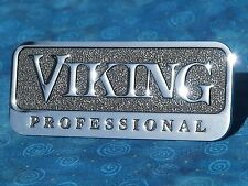 "Viking Professional OEM 4.5"" Metal Emblem Logo Badge Self Adhesive Nameplate"