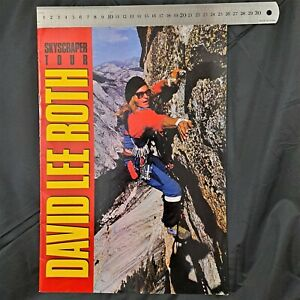DAVID LEE ROTH 1988 Large Australian Skyscraper Tour Book RARE - Van Halen
