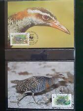 WWF Maximaphilie Lot de 4 cartes-maximum OISEAUX Coco Islands 1992