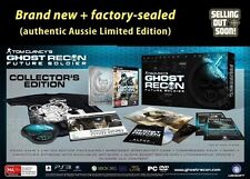 NEW Ghost Recon Future Soldier COLLECTORS Ltd Edition game for PC Windows 7 MW3