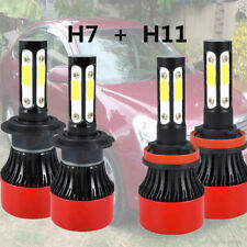 H7 + H11/H9/H8 CREE COB LED Headlight Bulbs Kits Hi/ Low Beam 1400W For Ford VW