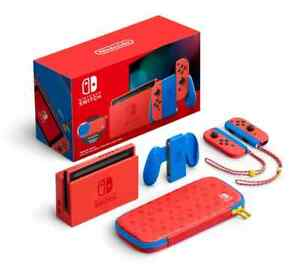 Nintendo Switch Mario Red and Blue Limited Edition Gaming Console Mario Version