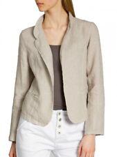 Caspar Bzr004 Ladies Linen Blazer Summer Jacket Short Beige 40 L Uk12 Us10