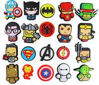 20 pcs Superheroes Shoe Charms for Croc & Bracelet jibbitz Wristband Kids Party