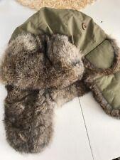 Crown Cap Rabbit Fur Trapper Hat Army green M/M