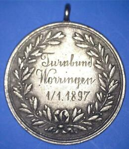 1897 KOLN GERMANY GYMNASTICS RINGS SILVER AWARD - TURNBUND WORRINGEN - *32913690