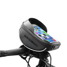 """ROCKBROS Fahrrad Lenkertasche Wasserfest Touchscreen 6.0"""" Handytasche Kohlefaser"""