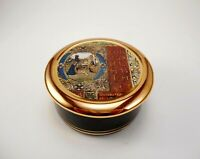 Trinket Box With Dufex Foil  Art Print Fine China Trimmed in  24KT Gold