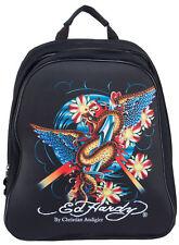 Ed Hardy Nina Snake Computer Backpack - Black