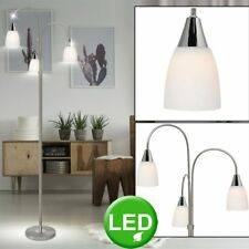 Design Standing Lamp LED Curved Reading Spot Office Floor 15 w Glass Big Light