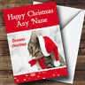 Tabby Cat Christmas Greetings Card Personalised