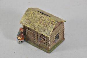 k67a26- Kleine Spardose Rotkäppchen und böser Wolf, Metall