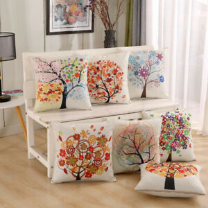 Printed Cotton Blend Cushion Cover 45x45cm