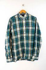 Tommy Hilfiger Custom Fit Herren Hemd Gr. M Langarm Karo Shirt Bunt
