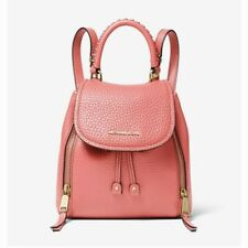 Michael Kors Viv Extra-Small Pebbled Leather Backpack Pink Grapefruit