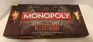 Star-Trek Klingon Monopoly Collector's Edition 2011 - 100% Complete