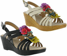 Cushion Walk Wedge Synthetic Sandals & Beach Shoes for Women