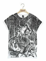 BATCH1 ALICE THROUGH THE LOOKING GLASS JABBERWOCKY ALL OVER PRINT UNISEX T-SHIRT