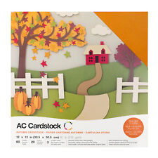 "American Crafts 12"" x 12"" Autumn Design Textured Cardstock Pack - 60 Sheets"