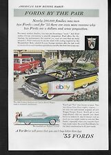 FORD SUNLINER 2 TONE YELLOW/BLACK  CONVERTIBLE FOR 1955 FORDS BY THE PAIR AD