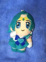 Vintage Sailor Moon Plush Keychain Sailor Neptune