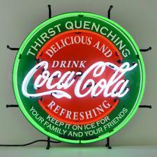 """Coca Cola Evergreen Soda Neon Light Sign 24""""x24"""""""