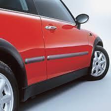 DP2/21mm Negro Tiras de moldeo Protector de puerta de cuerpo de auto + finaliza M17/5