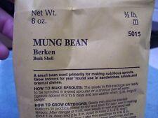 VTG BURPEE UNOPENED MUNG BEAN SEED PACKAGE, 1980, 1/2 LB, BERKEN BUSH SHELL
