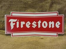 Vintage Firestone Tires Display Sign > Antique Automobile Garage Man Cave 9662