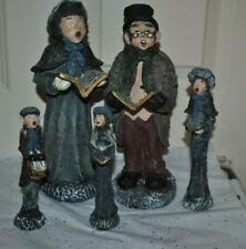 """S/5 Vintage Figurines Singing Victorian FAMILY CAROLERS CHRISTMAS 6.25"""" - 10.25"""""""