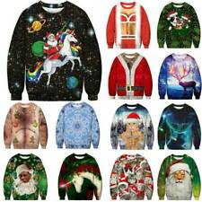 New listing Unisex Men Women Christmas Ugly 3D Sweatshirt Jumper Tops Pullover Party Costume