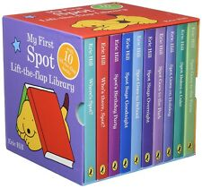 New My First Spot Lift-the-Flap Library 10 Board Books Set Collection Eric Hill