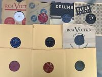 LOT OF 10  78 RPM RECORDS FOR CRAFTS PROJECTS VARIOUS ARTISTS  FREE SHIPPING