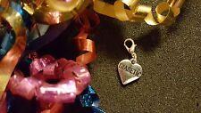 Diabetic Heart Dangle Charm for Living Memory Lockets or Bracelets - US Seller