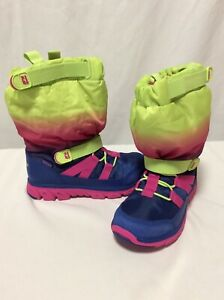 Stride Rite Made 2 Play Winter Sneaker Boot Toddler Girl size 13 New Navy Pink