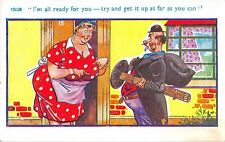 POSTCARD  COMIC    Fat  Lady  Chimney  sweep...