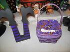 Longaberger Halloween Scaredy Treats Basket  Custom Liner, Custom Witch's Legs!
